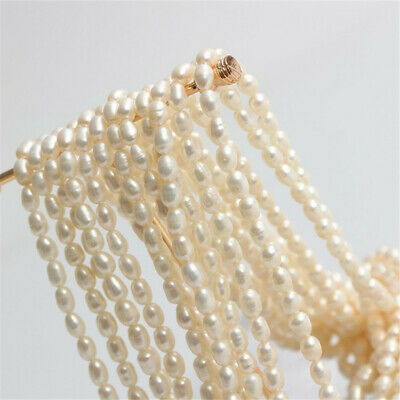 5-8MM Threaded natural freshwater pearls accessories AAAA women jewelry delicate