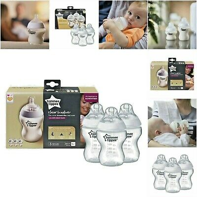 Tommee Tippee Closer to Nature 3 x 150ml or 260ml Bottles | FREE Shipping!