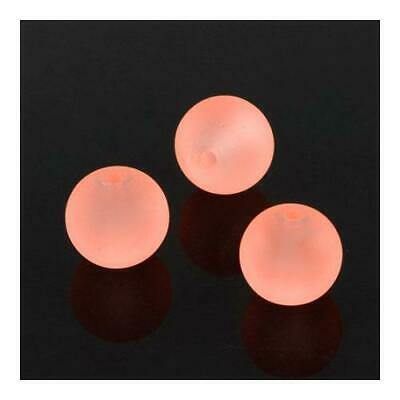 Glass Round Beads 4mm Pale Pink 195+ Pcs Frosted Art Hobby DIY Jewellery Making
