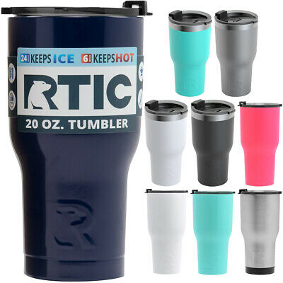 RTIC 20 oz. Vacuum Insulated Stainless Steel Tumbler with Splash Proof Lid