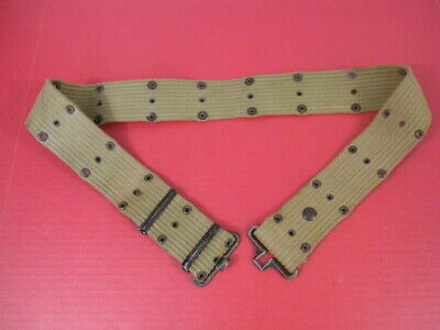 Original WWII US Army/USMC M1936 Pistol Web Belt Khaki Color Dated 1943 - Xlnt