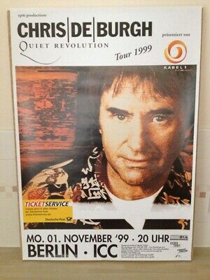 Chris De Burgh Quiet Revolution Tour 1999 Poster Berlin November 1 1999 Concert