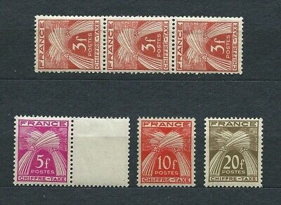 TIMBRES TAXE - 1943-46 YT 73 et 75 à 78 - TIMBRES NEUFS** MNH LUXE