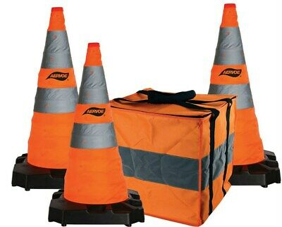 Aervoe Orange Emergency Construction Traffic Reflective Collapsible Safety Cones