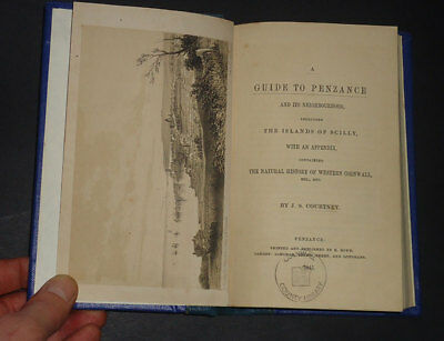 """A GUIDE TO PENZANCE & It""""s Neighbourhood With Islands of Scilly: Cornwall / 1845"""