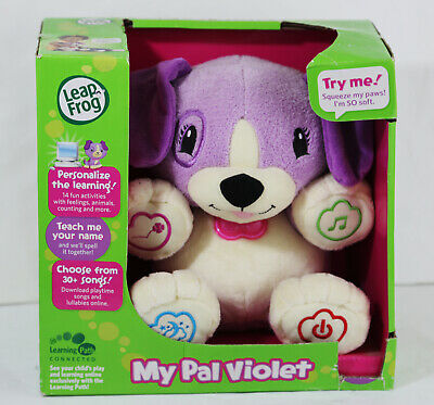 LeapFrog My Pal Violet Stuffed Bear for Babies to Toddlers 6 - 36 mo Baby Gift