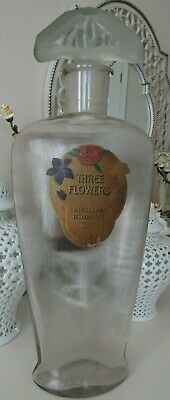 "Three Flowers perfume factice by Richard Hudnut, RARE 23"" tall"