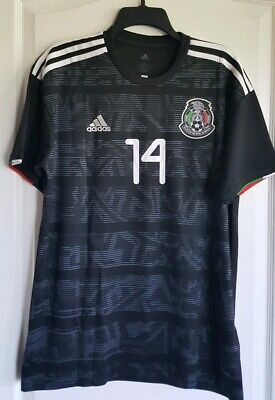 dfc4130fe 2019 Gold Cup Mexico Black Home Soccer Jersey CHICHARITO  14 - Large