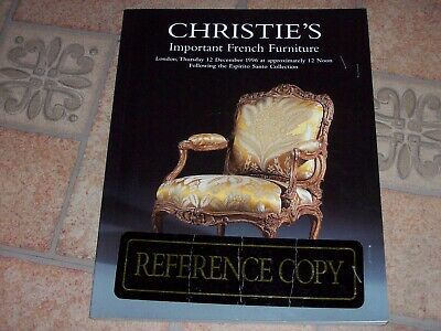 - Christie's Important French Furniture Reference copy w/results  12 Dec 1996