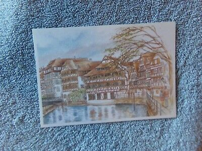 Vintage Postcard ART - Strasbourg The House of Tanners    E610/5