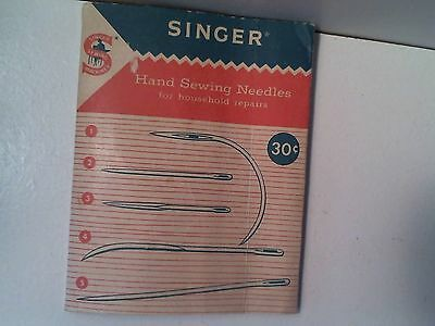 Vintage Singer Hand Sewing Needles Curved And Straight Needles For Repairing