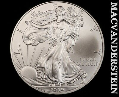 2009 American Silver Eagle 1 Ounce-Ch Gem Brilliant Unc!! No Reserve!! #f3408