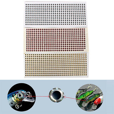 500PCS 3-6mm Fish Eyes 3D Holographic Lure Eyes Fly Tying Jigs Crafts Dolls HF
