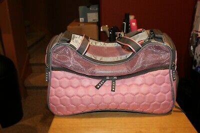 Argo Petagon Pink Silver Quilted Soft Side Dog Carrier Pet Cat Puppy Airline