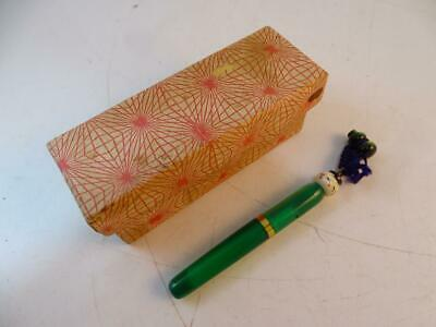 Antique Art Deco Japanese Japan Fountain Pen Doll Gold Nib Miniature Vintage Old