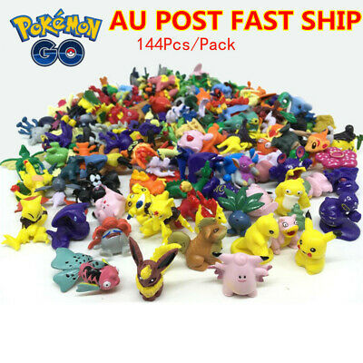 XMAS 144Pc Pokemon Monster Action Figures Toys Mini Pikachu Mixed Gift Toy 2-3cm