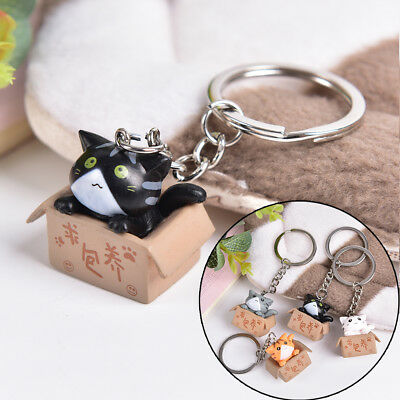 Lovely Cartoon Cat Key Rings Chains Pendant Ornament For Bag Car Keychain GiftHF