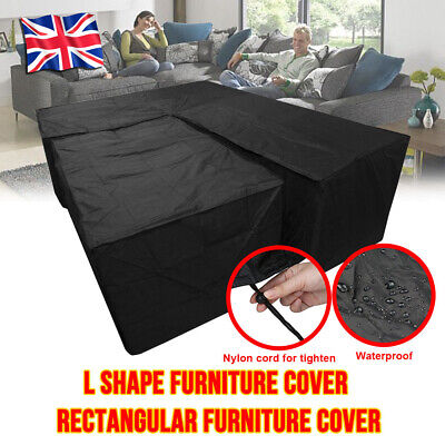 L Shape Cover Garden Furniture Waterproof Rattan Cube Outdoor Sofa Corner Size L