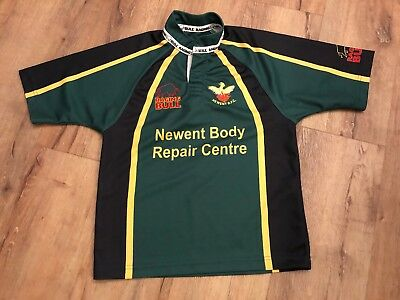 "Newent RFC rugby Top Shirt Green And Black 32"" Approx Age 10 - 12 Raging Bull 18"