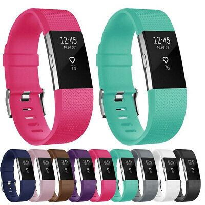 Replacement Bracelet Strap For FitBit Charge 2 Sports Watch Wrist Band S/L Size