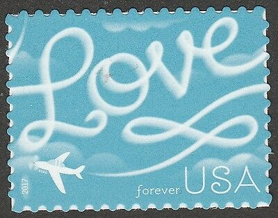 US 5155 Love Skywriting forever single (1 stamp) MNH 2017