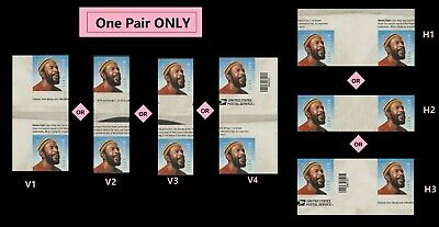 US 5371 Music Icons Marvin Gaye forever gutter pair MNH 2019