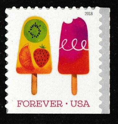 US 5291 Frozen Treats Bitten Pop at right forever single (1 stamp) MNH 2018