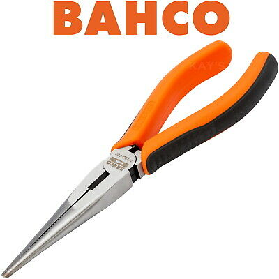 "BAHCO S-LINE 160mm(6.1/4"") FORGED LONG SNIPE NEEDLE NOSE CUTTER PLIER, 2470G-160"