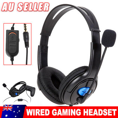 Gaming Headset Headphone with Microphone Volume Wired for Sony PlayStation 4 PS4