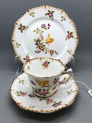 Rare Antique Reid & Co. Roslyn China Trio, Plate, Cup & Saucer c.1924 - 1950
