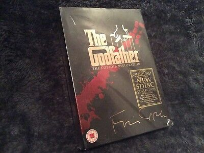 The Godfather Trilogy 3 Film DVD Set BNIB. The Coppola Restoration 5 Disc Set.