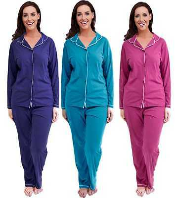 Womens Traditional Warm Cotton PJ Pyjama Set Night Wear PJ's Pyjamas Sets Ladies
