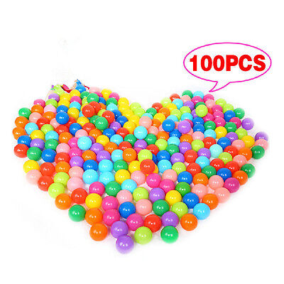 100X Multi-Color Cute Kids Soft Play Balls Toy for Ball Pit Swim Pit Ball PoolES