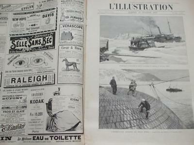 1897 L'illustration French Magazine Adverts North Pole Train Crash Dress Making