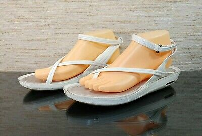 official photos 4a37f 14a38 COLE HAAN NikeAir G Series Womens 10 B White Patent Leather Slingback  Sandals