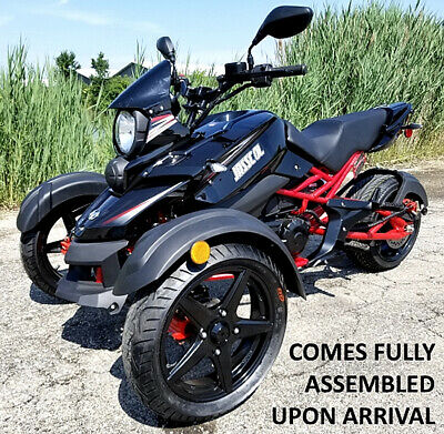 NEW KJASSCOL ANDI 200cc Motor Trike Reverse Tricycle Scooter Motorcycle 50  States Legal