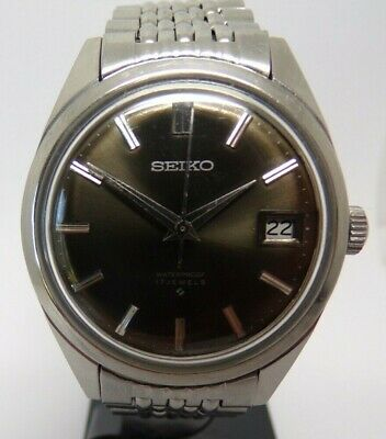 VINTAGE SEIKO 6602-8050 GENTS WATCH WITH BEADS OF RICE BRACELET circa 1960s