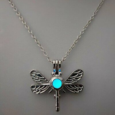 2019 Glow In The Dark Luminous Dragonfly Pendant Necklace Women Jewelry Gifts