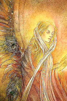 Sulamith Wulfing Praying Angel Rainbow Wings ANNUNCIATION 1957 Art Print Matted