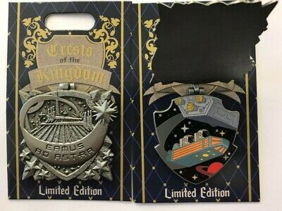 Disneyland Park 2019 Space Mountain Crests of the KIngdom LE Disney Pin