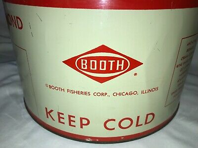 new concept 64df3 2550d VINTAGE BOOTH FISHERIES CORP. tin PICKLED HERRING SEAFOOD Red Diamond 1  gal.+ -  49.99   PicClick