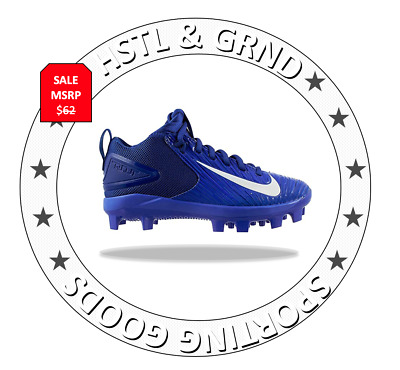 best service 6242a 2943b NEW Nike Air Mike Trout 3 Pro BG Youth Baseball Cleats Sz 5Y Blue 856499-