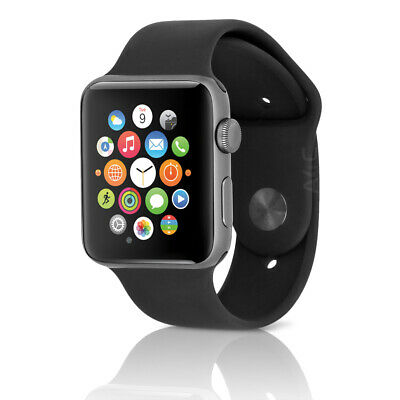 Apple Watch Series 2 w/ 42MM Space Gray Aluminum Case & Black Sport Band
