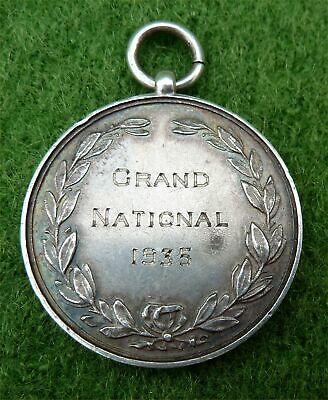 "Silver Pendant Engraved - ""grand National 1935"" Plus List Of Winners On The Back"