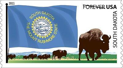 US 4321 Flags of our Nation South Dakota forever coil single MNH 2011