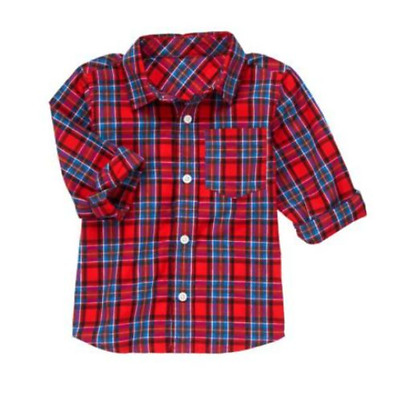 *nwt* Crazy8 By Gymboree Little Boys Size 2T 4T Red Blue Plaid Dress Shirt