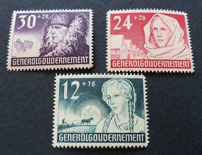 German Third Reich occupation 1940 Poland General Government stamp set -MNH-