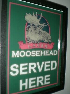 Moosehead Canada Beer Bar Tavern Man Cave Lighted Advertising Sign