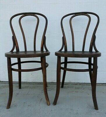 Match Pair Antique Thonet Bent Wood Chairs
