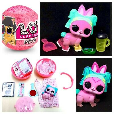 LOL Surprise PETS VR HOP Confetti Pop Doll VRQT Pet Bunny COLOR CHANGER Complete